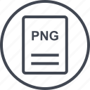 extension, file, page, png document icon