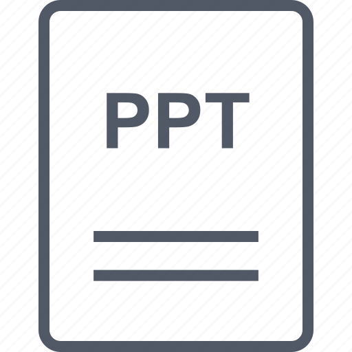 extension, file, name, ppt icon