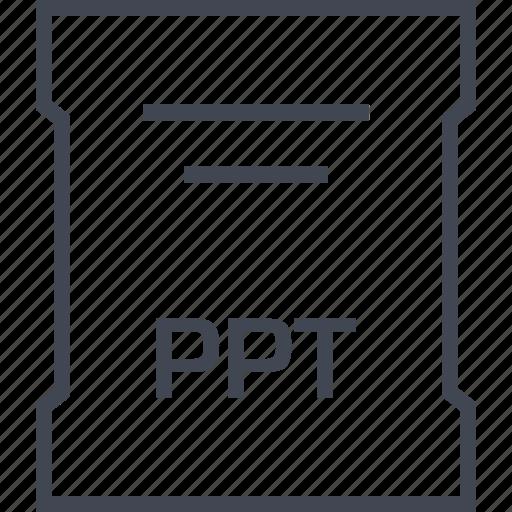 file, ppt, sleek icon