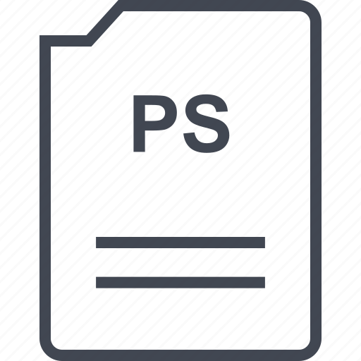 doc, document, page, ps icon