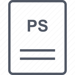 extension, file, name, ps icon