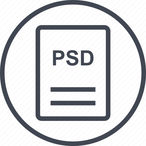 extension, file, page, psd icon