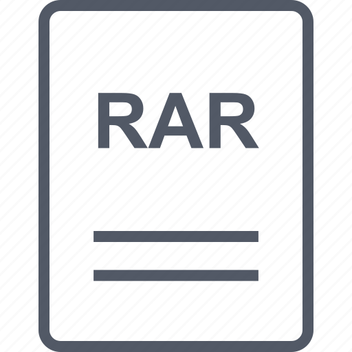 extension, file, name, rar icon