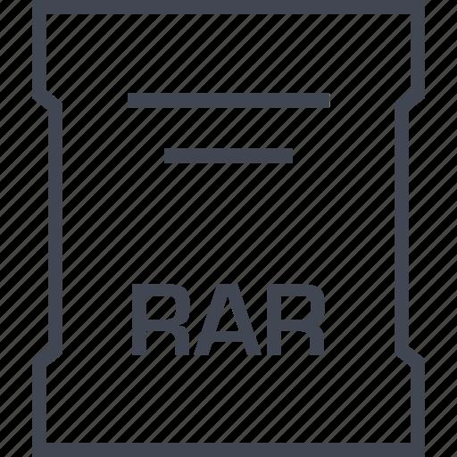 extension, file, rar, sleek icon