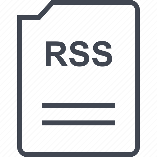 doc, document, page, rss icon