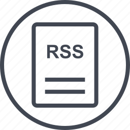 extension, file, page, rss icon