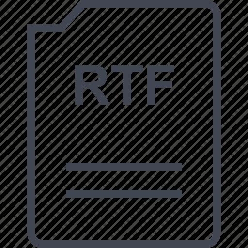 file, name, page, rtf icon