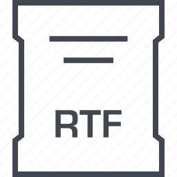 extension, file, rtf, sleek icon
