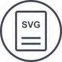 extension, file, page, svg vector icon