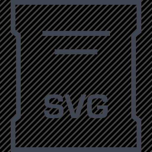 extension, file, sleek, svg transparent icon
