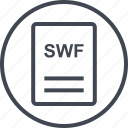 extension, file, page, swf icon