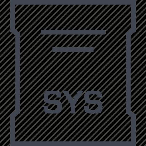 extension, file, sleek, sys icon