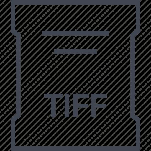 extension, file, sleek, tiff icon