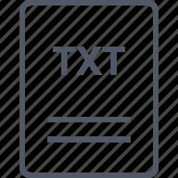 extension, file, name, txt icon