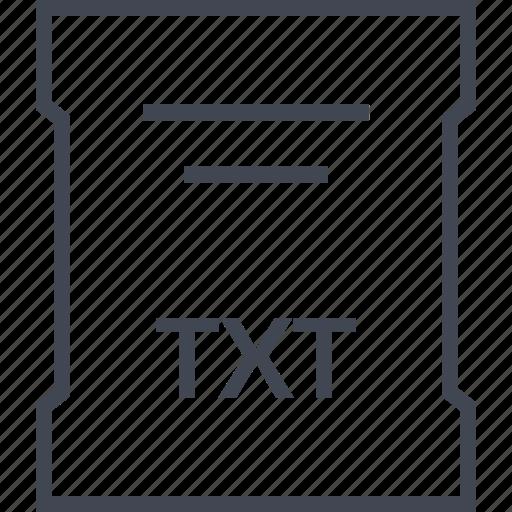 extension, file, sleek, txt icon