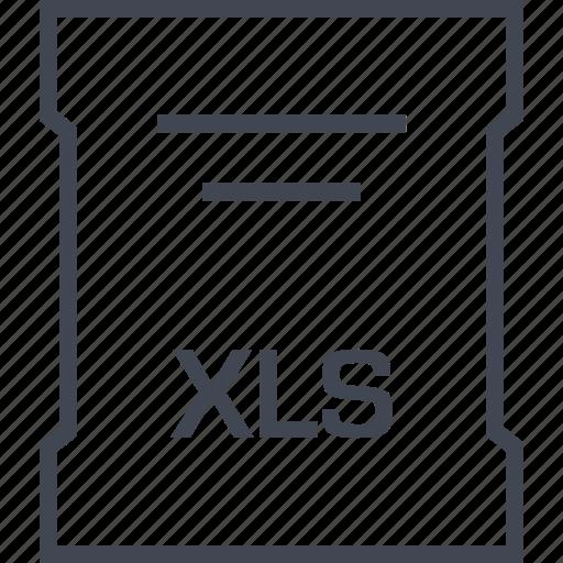 extension, file, sleek, xls icon