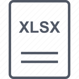 extension, file, name, xlsx icon