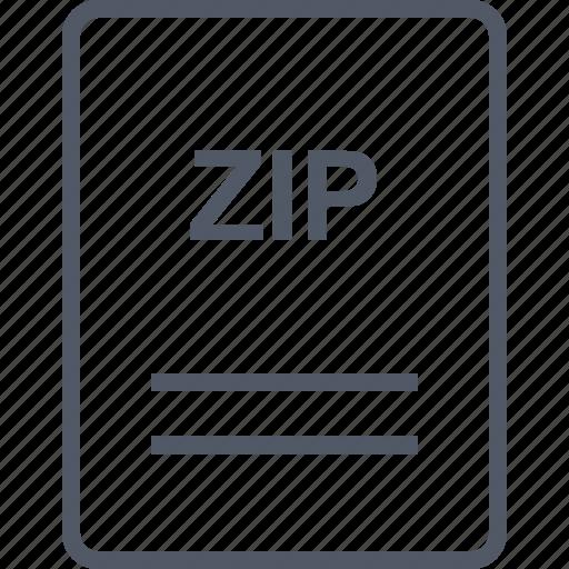 extension, file, name, zip icon
