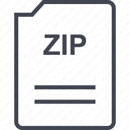 file, name, page, zip icon