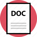 doc, document, file, name, page icon