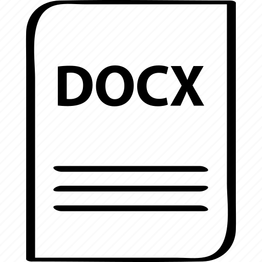 document, docx, file, name icon