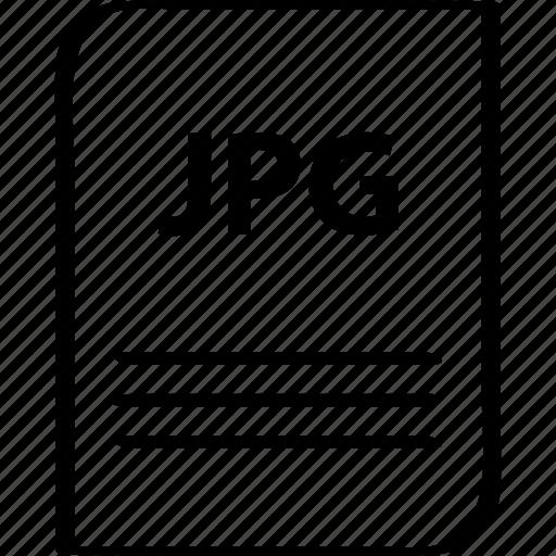 document, file, jpg, name icon