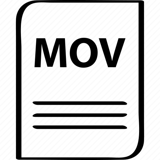 document, file, mov, name icon