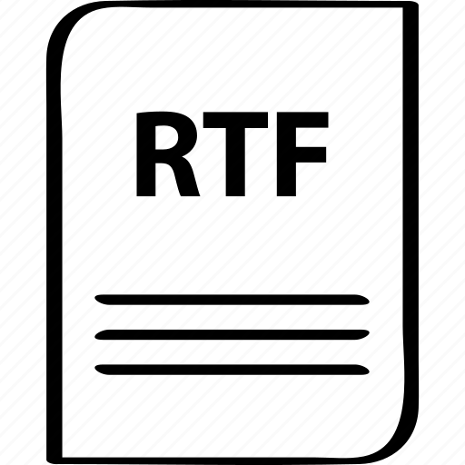 document, file, name, rtf icon