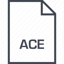 ace, extension, file, name icon