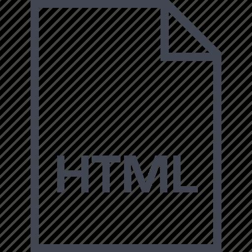 extension, file, html, name icon