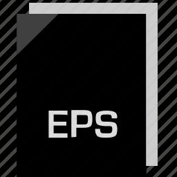 eps, extension, file, name icon