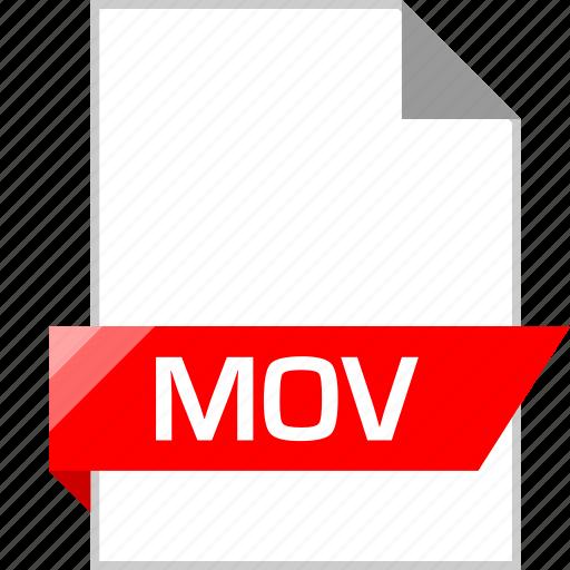 ext, mov, page icon