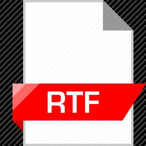 ext, page, rtf icon