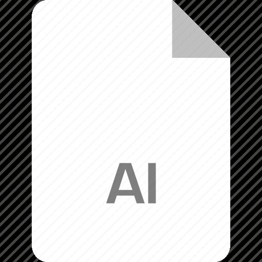 ai file, extension, file, page icon