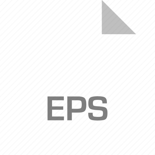 eps, extension, file, page icon