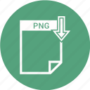 document, extension, file, format, png file, type icon