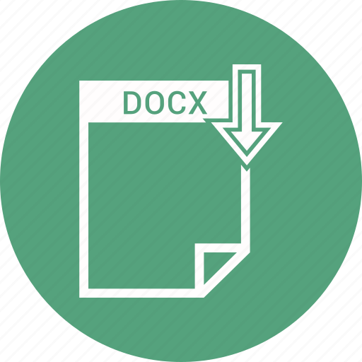 document, docx, extension, file, format, type icon