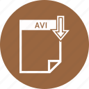 avi, extension, file, file format icon
