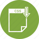 css, document, extension, format, paper icon
