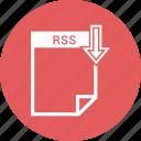 document, extension, format, paper, rss