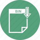 bin, document, extension, format, paper icon