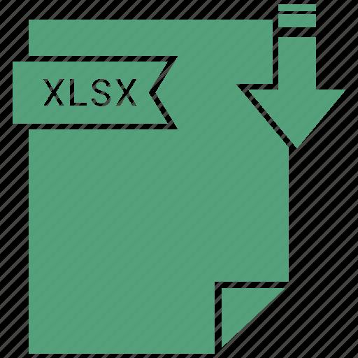 document, extension, file, xlsx icon