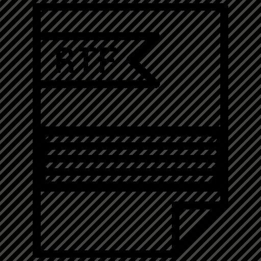 extention, file, rtf, type icon