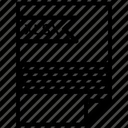 document, file, tag, xlsx icon