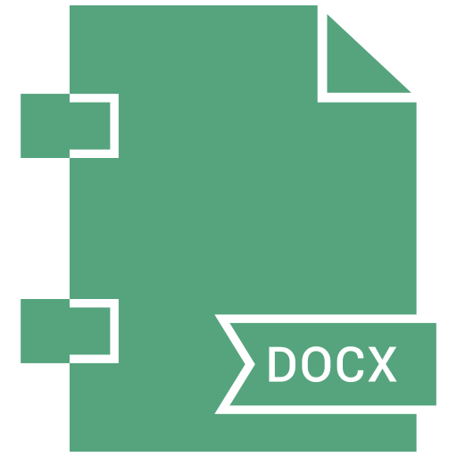 document, docx, extension, file, format, page icon