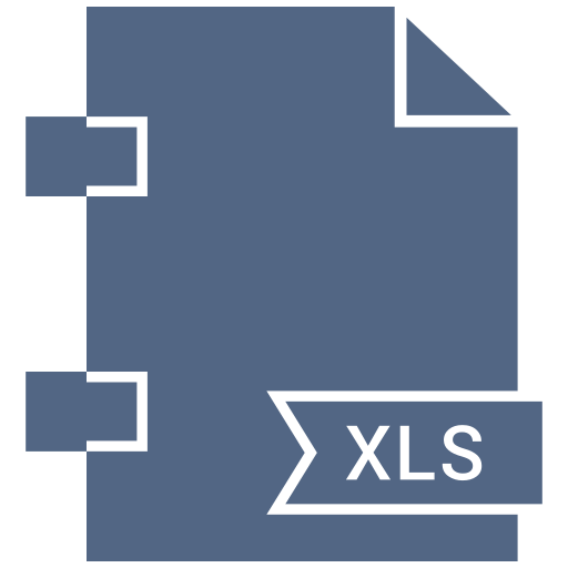 document, extension, file, format, page, xls icon
