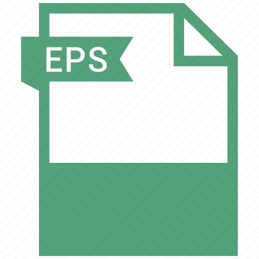 eps, extension, file, file format icon