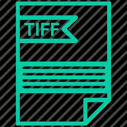 contract, cv, file, resume, tiff icon