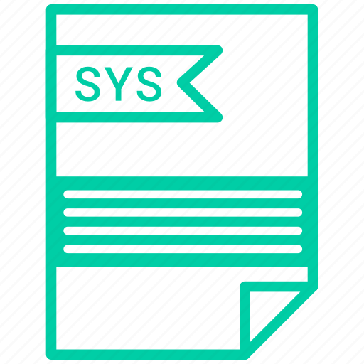 document, extension, file, sys icon
