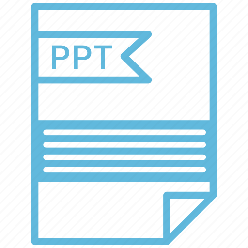 document, extension, file, ppt icon